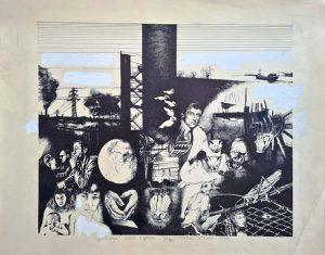 Grzegorz Woldański, Cywilizacja, 1979 r., offset, gwasz, papier