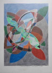 Marek Dzienkiewicz, Abstrakcja geometryczna, 2017 r., kredka, papier